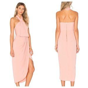 Shona Joy Knot Draped dress in Dusty Pink Sz2